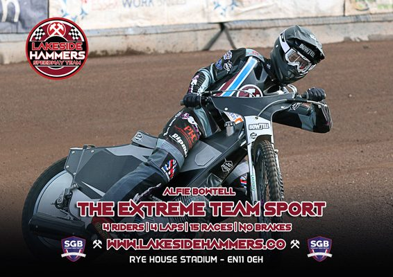 Alfie Bowtell Lakeside Hammers Speedway Team