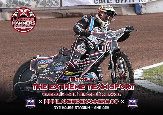 Ben Morley Lakeside Hammers Speedway Team